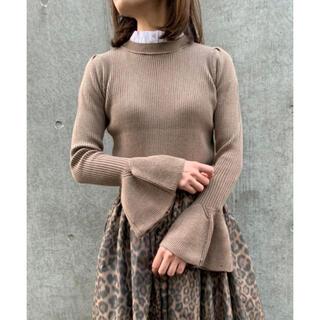 DOUBLE STANDARD CLOTHING - 新作★ダブスタSov.SEMI WORSTEDフリルカラー付きプルオーバ36