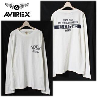 AVIREX - 《アヴィレックス》新品 長袖Tシャツ ロンT カットソー 白 XL大きいサイズ