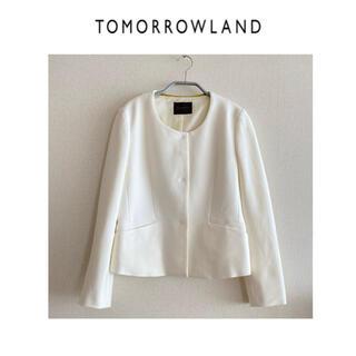 TOMORROWLAND - トゥモローランド   TOMORROWLAND ★ノーカラージャケット 白