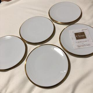 ノリタケ(Noritake)のノリタケ 平皿 金彩 15.5cm プレート 5枚セット 未使用(食器)