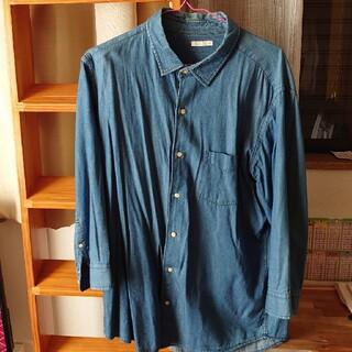 ジーユー(GU)のGU 七分丈シャツ XL ジーンズ柄(シャツ/ブラウス(長袖/七分))