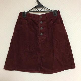 ウィゴー(WEGO)のWEGO  スカート 台形ミニ コーデュロイ 赤(ミニスカート)