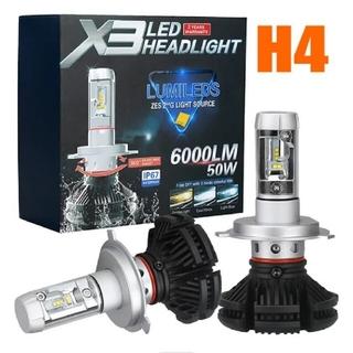 新品 X3 LED Lumileds Zes 2nd G H4 hi/Loバルブ(汎用パーツ)