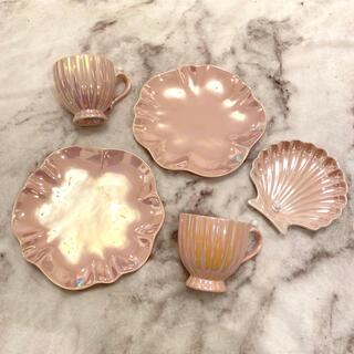 Francfranc - フランフラン 新品ピンクマグカップ 皿