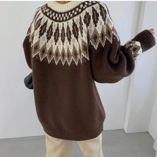 TODAYFUL - willfully brown nordic longer knit