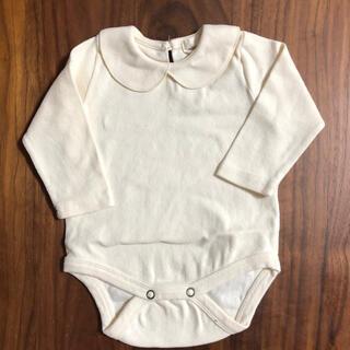 Caramel baby&child  - 白襟 ロンパース 70