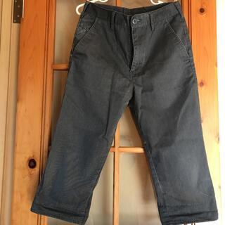 ジーユー(GU)のジーユー GU メンズ S ハーフパンツ 綿パンツ ワークパンツ グレー(ショートパンツ)