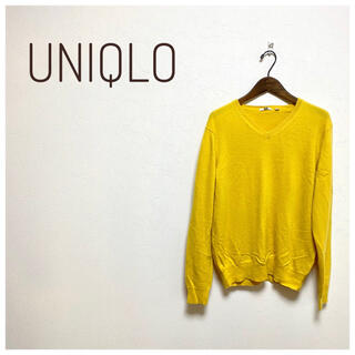 UNIQLO - 美品⭐︎UNIQLO レディース カシミヤブイネックセーター(長袖) 黄色