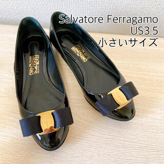 Salvatore Ferragamo - 美品フェラガモ パンプス ヴァラリボン バレエシューズ フラットシューズ