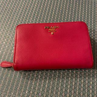 プラダ(PRADA)のPRADA ピンク サフィアーノ財布(財布)