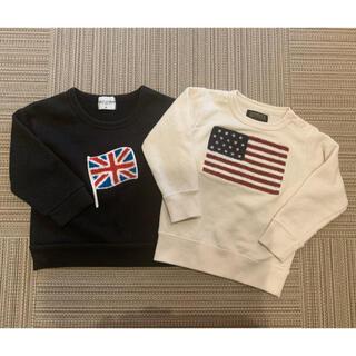 マーキーズ(MARKEY'S)の国旗トレーナー セット 90㎝ 95㎝ MARKEY'S  西松屋(Tシャツ/カットソー)