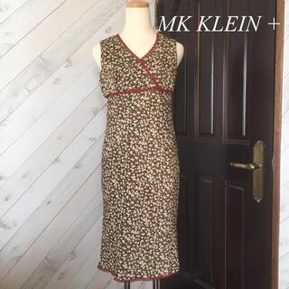 エムケークランプリュス(MK KLEIN+)のMK KLEIN+  花柄ワンピース(ひざ丈ワンピース)