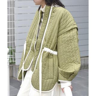 ダブルクローゼット(w closet)の⦅wcloset⦆縦ステッチキルティング袖取り外しジャケット(ブルゾン)