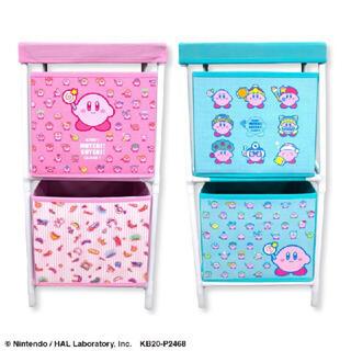 ニンテンドウ(任天堂)の星のカービィ 2段収納BOX ボックス ピンクのみ(棚/ラック/タンス)