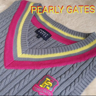 PEARLY GATES - PEARLY GATES パーリーゲイツ レディース ニットベスト 2号
