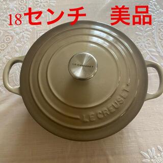 ルクルーゼ(LE CREUSET)のル・クルーゼ鍋18センチ 美品(鍋/フライパン)