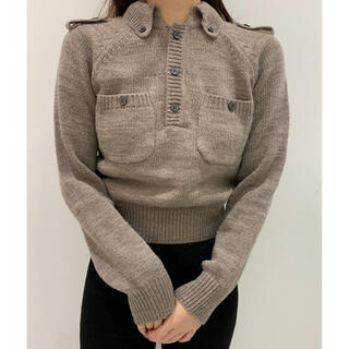 EDIT.FOR LULU - Charles Chaton epaulet knit ベージュ