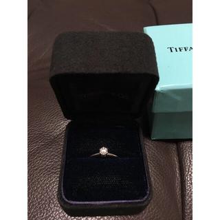 Tiffany & Co. - 1/25まで出品 ティファニー ダイヤモンドリング pt950  0.22ct