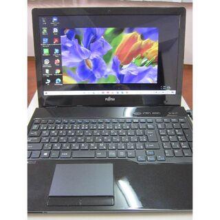 フジツウ(富士通)の美品 LIFEBOOK Core i7 新品SSD Win10 最新MSオフィス(ノートPC)