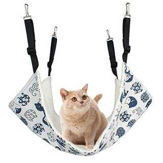ホワイトAlien Pet ハンモック 猫 ケージ 椅子の下用 両面使用 昼寝 (猫)