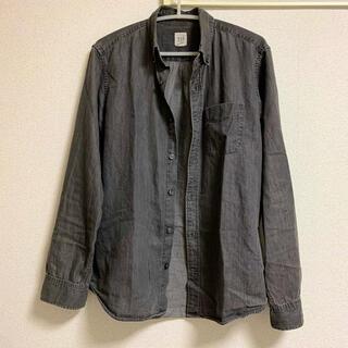 GAP - GAP ギャップ メンズシャツ デニムシャツ 薄手 ブラック