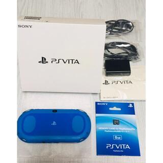 PlayStation Vita - ps vita 2000本体 ブルーブラック メモカ箱つき