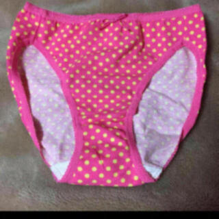 新品 未使用 ピンク 黄色 ドット 水玉模様 パンツ ショーツ レディース 下着
