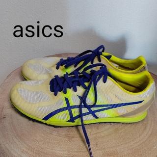 アシックス(asics)のasics  黄色  スパイクシューズ(陸上競技)