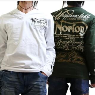 ノートン(Norton)のNorton ノートン 新品8789円→4990円MAXグラデーション刺繍ロンT(Tシャツ/カットソー(七分/長袖))