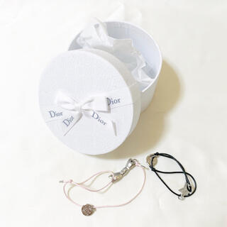 ディオール(Dior)のDior ディオール ノベルティ ブレスレット リボン スター ピンク ブラック(ブレスレット/バングル)
