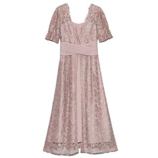 Lily Brown - ウエストクロスラメレースドレス