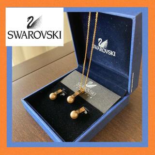 SWAROVSKI - 【新品未使用】スワロフスキーネックレスとピアスセット 正規品 レディース