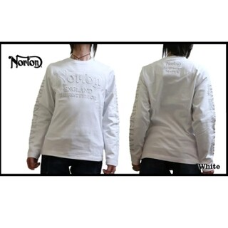 ノートン(Norton)のNorton ノートン 新品6589円→4500円刺繍エンボス3D加工ロンT(Tシャツ/カットソー(七分/長袖))