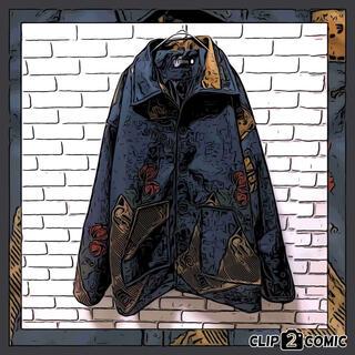 アートヴィンテージ(ART VINTAGE)の【超オシャレデザイン】ビンテージ コーチジャケット 柄 韓国 ストリート 中綿(ブルゾン)