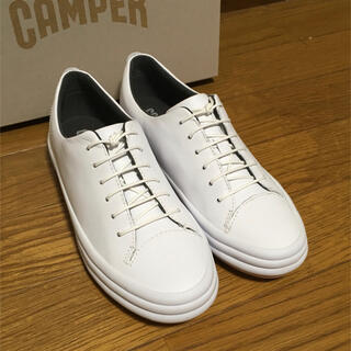 カンペール(CAMPER)の新品 Camper Hoops カンペール フープス レザースニーカー ホワイト(スニーカー)