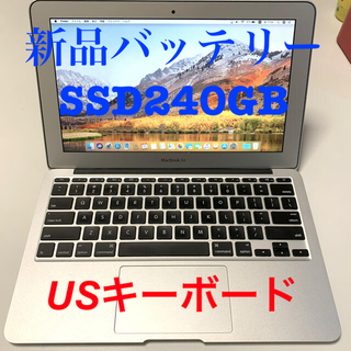 Mac (Apple) - ⭐︎バッテリー新品⭐︎USキーボード⭐︎MacBook Air 11-inch