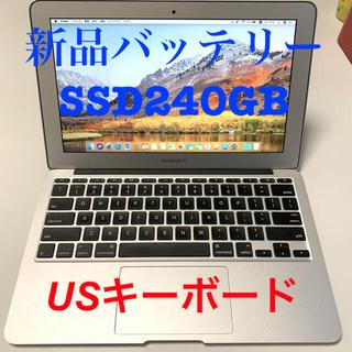 Mac (Apple) - ⭐︎バッテリー新品⭐︎USキーボード⭐︎MacBook Air 11-inch