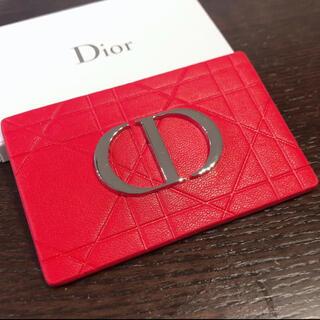 Christian Dior - ディオール ミラー ノベルティ 赤ロゴ ミラー