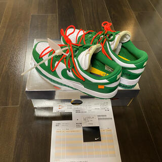 NIKE - 【美品】OFF-WHITE × NIKE DUNK LOW GREEN 28cm