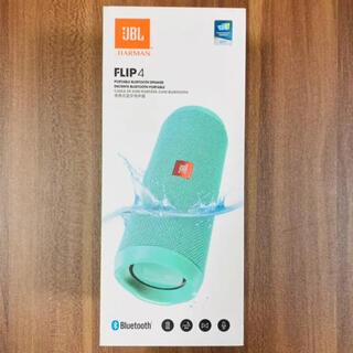 フリップ(Flip)の【新品未開封、スピーカー】JBL FLIP4 TEAL 水色(スピーカー)