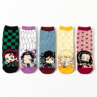 【新品】 鬼滅の刃 靴下 ソックス 19~24cm 5足セット