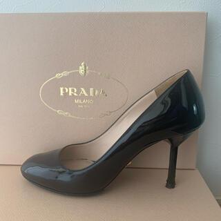 PRADA - プラダ 36 パテント 黒 ハイヒール エナメル  PRADA(プラダ)