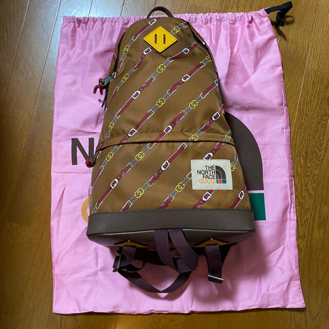 Gucci(グッチ)のGUCCI× THE NORTH FACE バックパック 茶色 メンズのバッグ(バッグパック/リュック)の商品写真