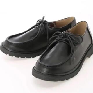 サマンサモスモス(SM2)の新品 sm2  チロリアンシューズ ブラック サマンサモスモス(ローファー/革靴)