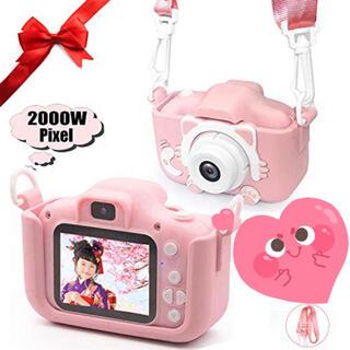 子供にプレゼント大人気 猫ちゃんデザインで子供用デジタルカメラ(コンパクトデジタルカメラ)