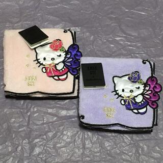 アナスイ(ANNA SUI)の【新品】アナスイ タオルハンカチ 2枚 キティ☆紫 パープル ピンク(ハンカチ)