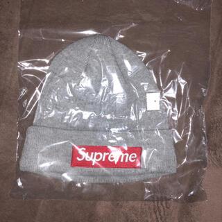 シュプリーム(Supreme)のsupreme ボックスロゴ ニット帽 グレー(ニット帽/ビーニー)