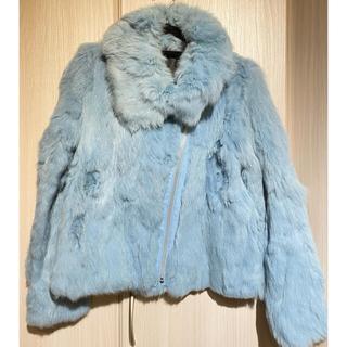 ムルーア(MURUA)のMURUA リアルラビットファーコート ライダースジャケット(毛皮/ファーコート)