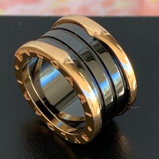 ブルガリ(BVLGARI)のブルガリ K18ブラックセラミックB-zero1リング(リング(指輪))