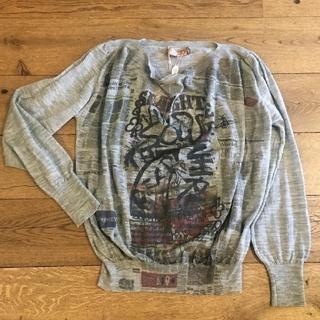 Vivienne Westwood - 新品・Newspaper Print Wool Jumper
